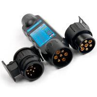 7Pin 12V Car Truck Trailer Socket Tester Wiring Circuit Light Test Tool Black AU