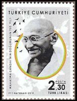 Turkey 2019 Mahatma Gandhi India Indian theme stamp 1v MNH