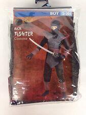 Ninja Fighter Costume Halloween Dress Up Boys Size Small 6 Fun World New