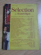 Sélection du Reader's Digest avril 1949 Vintage 40's french magazine
