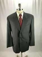 Hickey Freeman Loro Piana Men's Super 120 Wool Gray Blazer Jacket 42L