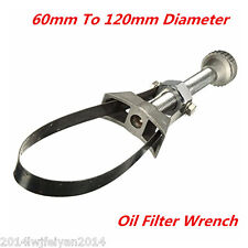 Car Oil Filter Removal Tool Strap Wrench 60-120mm Diameter Adjustable Aluminium