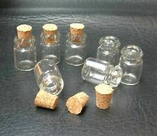 50Pcs Small Glass Bottles Vials With Cork Tops Tiny Bottles Little Empty Jars US