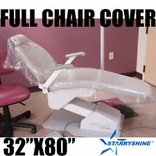 """Starryshine DENTAL CHAIR COVER (FULL CHAIR) 32"""" x 80"""" CLEAR PLASTIC BOX OF 125"""
