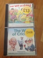 The Wit of Golf & The Wit of Cricket Audio CD's