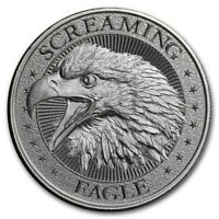 SALE !~ SCREAMING AMERICAN EAGLE ROUND ~ 2~OUNCES PURE 999 SILVER ~ $56.88 ~ BUY