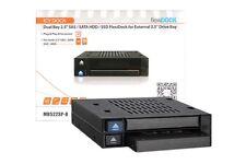 "IcyDock flexiDOCK MB522SP-B Dual Bay 2.5"" SAS / SATA HDD / SSD for External 3.5"""