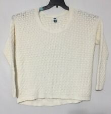 Old Navy Knit Sweater Women Size XL Ivory Cream Long Sleeve Pullover