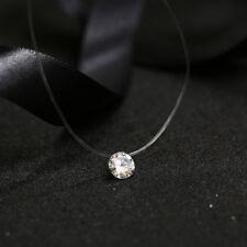 Dames Transparent Collier Strass Chaîne Collier Mode Bijoux Cadeau Nouveau