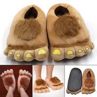 Furry Warm Slippers Big Hairy Savage Hobbit Feet Plush Slippers Halloween Shoes