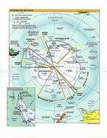 MAP POLITICAL CIA 2002 ANTARCTIC REGION OLD LARGE REPLICA POSTER PRINT PAM1421
