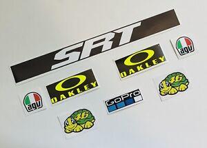 Rossi Helmet and Visor Decals/Stickers Fluro Yellow Moto GP Sticker Set 2021 SRT
