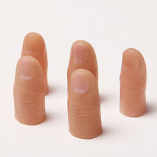 5Pcs Fake Soft Thumb Tip Finger Close Up Stage Magic Trick Horror Fashion Cheap
