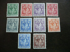 Stamps - St. Lucia - Scott# 110-121, 124-125