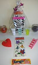 6 Girls Ladies Teens Pre Filled Striking Zebra Print Birthday Party Boxes Bags