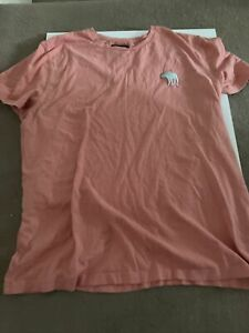 Abercrombie and Fitch T-Shirt Mens Pink XL
