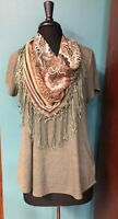 Women's World Unity Top with Detachable Scarf M EUC