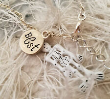 Claire's pair of best friends friendship necklaces skeleton charm NEW