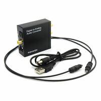 Digital Óptico a Analógico Conversor de Audio Spdif Coaxial Para Estéreo LED / R