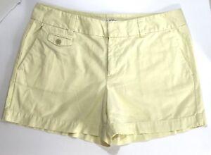 ANN TAYLOR LOFT Original Straight Through Hip & Thigh Yellow shorts size 6