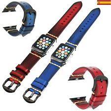 Pulsera de Cuero para Apple Watch Vintage 42mm/44mm iWatch Series 6/5/4/3/2/1/SE