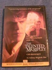 The Talented Mr. Ripley (1999 Dvd) Matt Damon, Jude Law, Gwyneth Paltrow