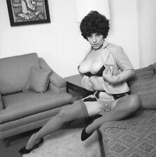 1960s Negative, busty nude brunette pinup girl Sandra Carponi, cheesecake t43911