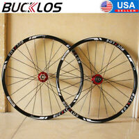 "BUCKLOS MTB Wheelset QR/Thru 26"" 27.5"" 29"" Carbon Hub Clincher Disc Brake Wheels"