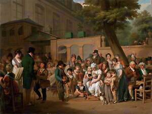 PAINTING EXTERIOR STUDY BOILLY ENTRANCE TURKISH GARDENS ART PRINT POSTER HP1652