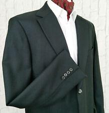 Hugo Boss PASOLINI Blazer Jacket Black Virgin Wool 2 Button Size UK 46 EU 56