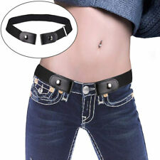 Buckle-Free Elastic Belt No Buckle Stretch Belt For Jeans Pant Dress Women Men