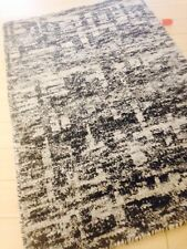 Modern Spectacular Art Silk Black White area Rug 8 X 10 Hand Knotted Artistic
