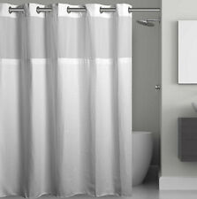 Hookless Waffle 71-Inch x 74-Inch Fabric Shower Curtain in White