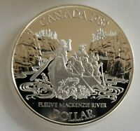 1989 CANADA $1 PROOF DOLLAR COIN ~ MACKENZIE RIVER ~