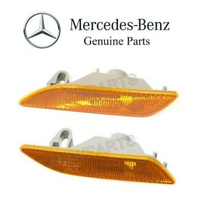 For Mercedes C215 Pair Set Front Left & Right Turn Signal Lights-Bumper Genuine