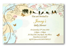 40 Personalised Baby Shower Invitations / Invites With Envelopes REF BS8