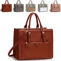 Designer Ladies Faux Leather Womens Shoulder Bag Cross Body Large Handbag Tote