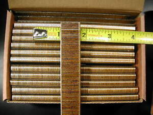 "18 gauge 1/4"" Narrow Crown Staples 5000/bx Galvanized Chisel Point 5/8"" long"
