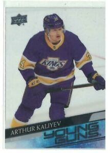 2020-21 UD Extended Series Young Guns Clear Cut Arthur Kaliyev #701
