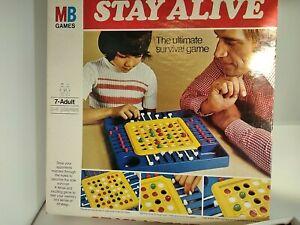 Stay Alive Board Game 1977 MB Games Complete Vintage