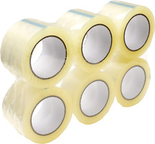 24 Rolls 2 Mil Clear Carton Sealing Packing Package Tape 3 Inch Wide 110 Yards