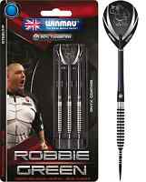 WINMAU ROBBIE GREEN KONG 90% TUNGSTEN DARTS ONYX COATED 22g 24g