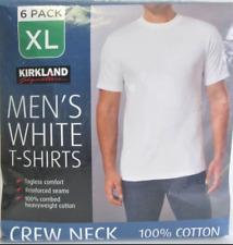 Kirkland Signature 6PK Mens White Crew Neck Tee 100%Cotton 7079001 / 7079002