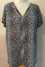 Skies are Blue Stitch Fix 2X Gray Blouse Top GORGEOUS MINT CONDITION