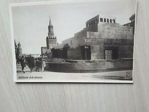 Ansichtskarte AK PK Moskau Lenin Mausoleum Passanten Kinder Intourist