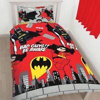 Lego Dc Superheroes Batman Robin Kapow Single Duvet Set Quilt Cover Kids Bedding