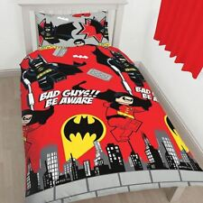 Lego Dc Superheroes Batman Robin Kapow Single Duvet Set Quilt Cover Kids Bedding