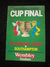 Orig.PRG  ENGLAND League Cup 1978/79  FINALE  NOTTINGHAM FOREST - SOUTHAMPTON FC