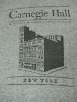 ANDREW CARNEGIE PERFORMANCE HALL NEW YORK-  GRAY SMALL T-SHIRT-A1388
