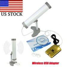 Long Range (3KM) High Power (5800MW) 58DBI USB Wireless Wifi Adapter w/ Antenna